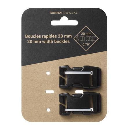 Lot de 2 boucles rapides pour sac à dos - 20mm