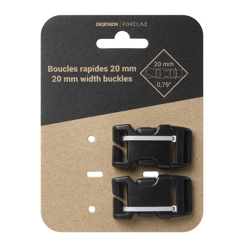 Pack de 2 broches rápidos para mochila 20 mm