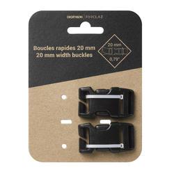 Steckschnallen für Rucksack 20mm 2er-Set