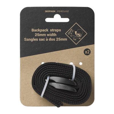 Set of Two Backpack Straps - Black