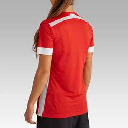 Camiseta de fútbol mujer F500 rojo blanco