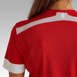 Voetbalshirt dames F500 rood/wit