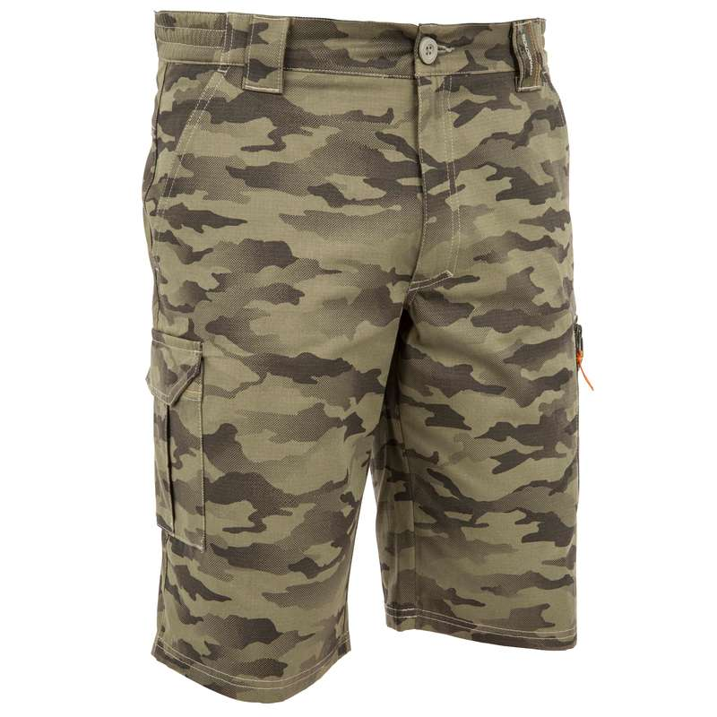 LIGHTWEIGHT CLOTHING Shooting and Hunting - hunting Bermuda Shorts 500 - Camouflage SOLOGNAC - Hunting and Shooting Clothing