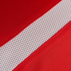 Fußballtrikot F500 Damen rot/weiß