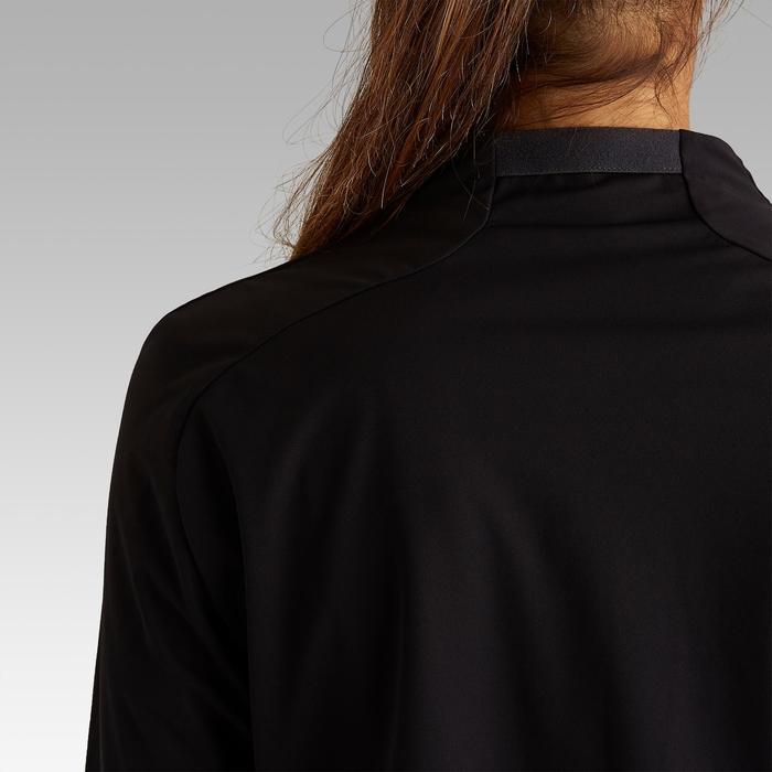 Sweat d'entrainement de football T500 femme noir