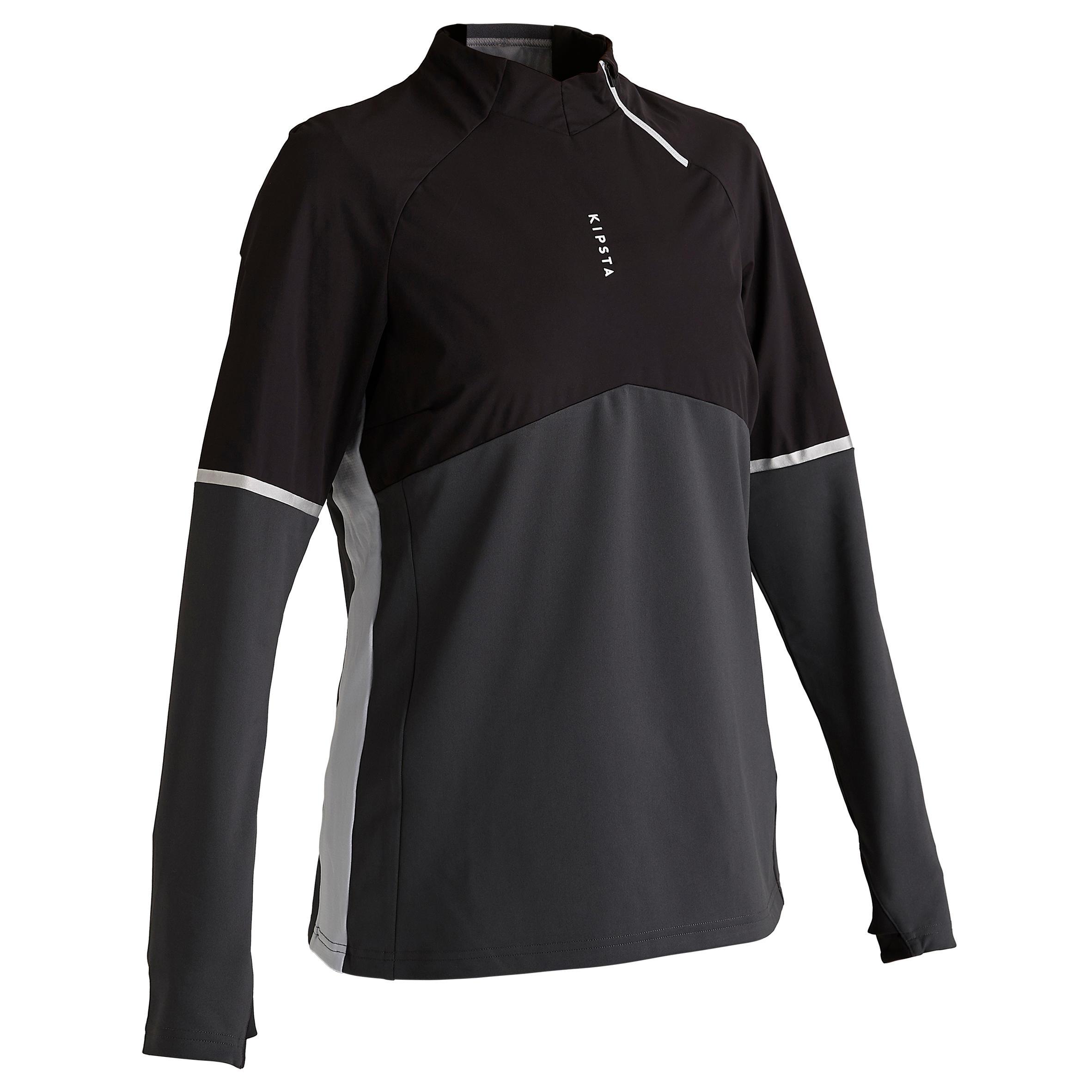 Sweatshirt Trainingsshirt Fussball T500 Damen schwarz