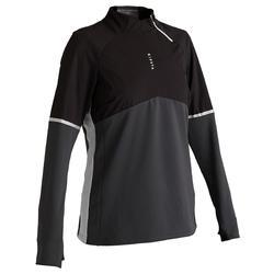 Trainingssweater voor voetbal dames T500 zwart