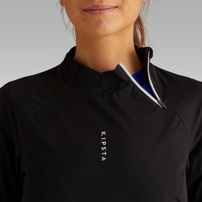 Trainingssweater voor voetbal T500 dames zwart