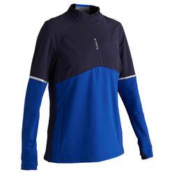 Sudadera de entrenamiento de fútbol T500 mujer azul