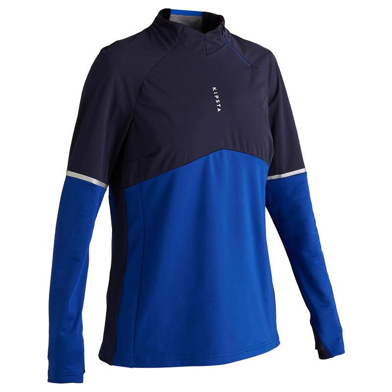 Trainingssweater voor voetbal dames T500 blauw