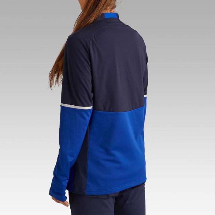 Sudadera Entrenamiento Fútbol Kipsta T500 Mujer Azul Marino Azul
