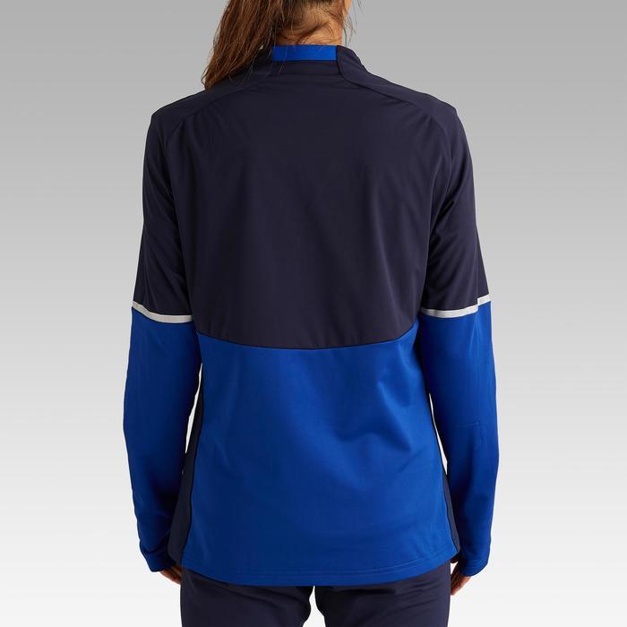 Trainingsjack dames T500 blauw