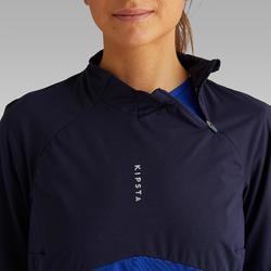 Sweat d'entrainement de football T500 femme bleu