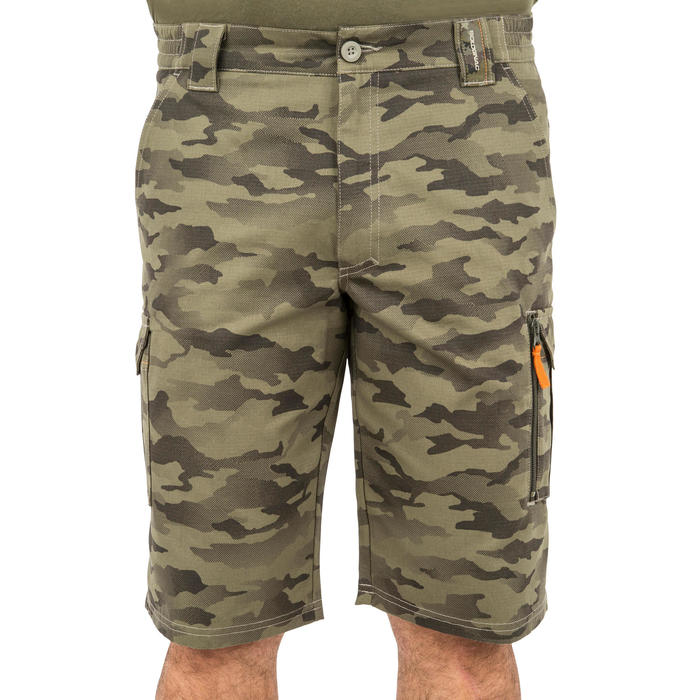 500 Camouflage hunting Bermuda half tone green - 160376