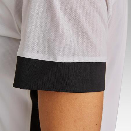 Camiseta de fútbol para mujer F500 blanco-negro