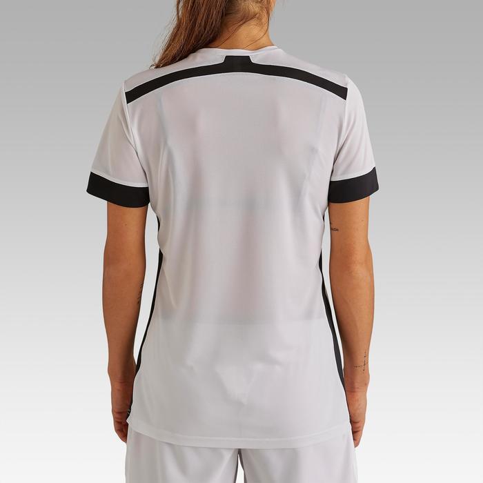 Maillot de football femme F500 blanc noir