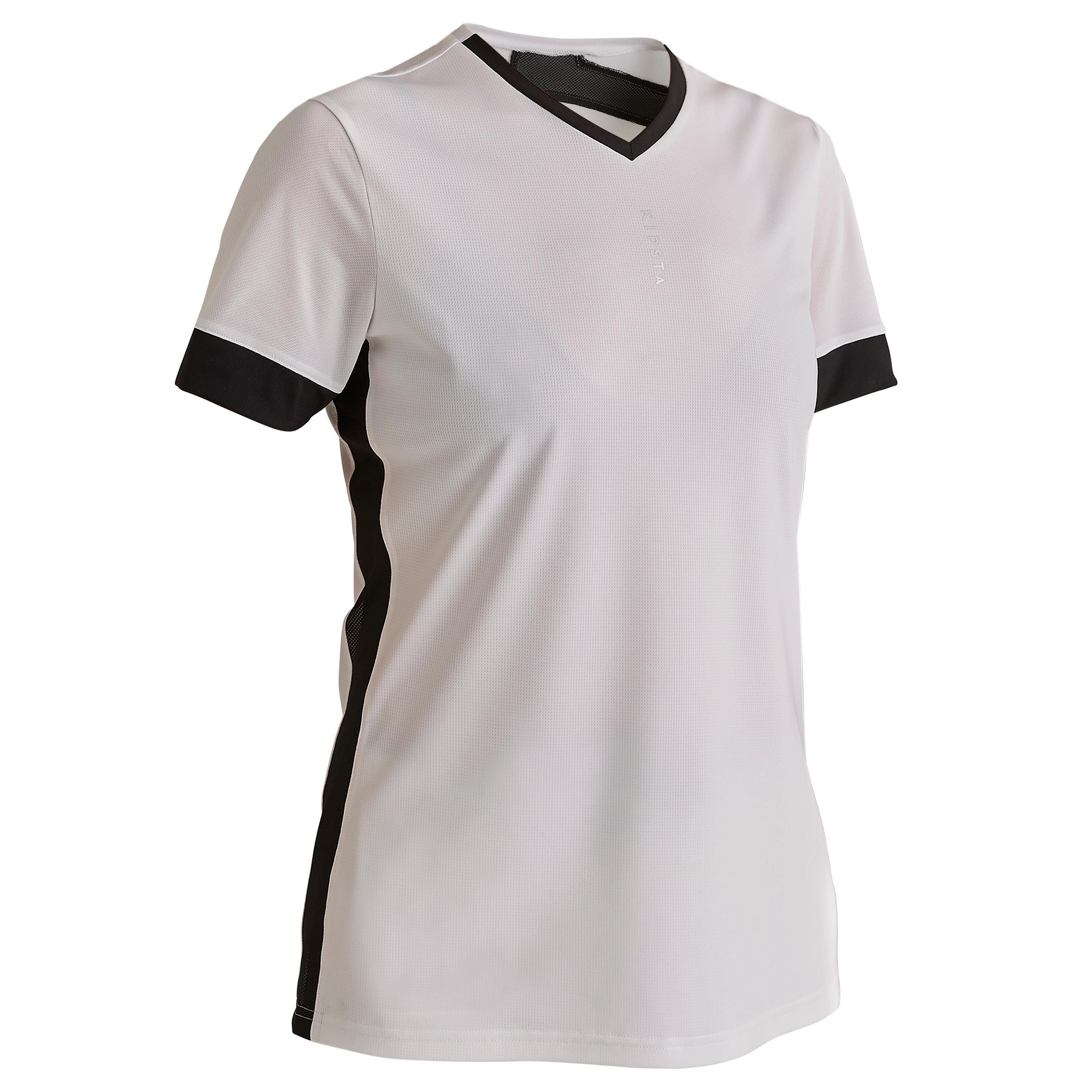 Fußballtrikot F500 Damen weiß/schwarz   Sportbekleidung > Trikots   Kipsta