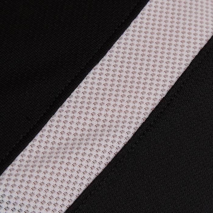 Camiseta de fútbol mujer F500 negro blanco