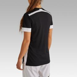 Maillot de football femme F500 noir blanc