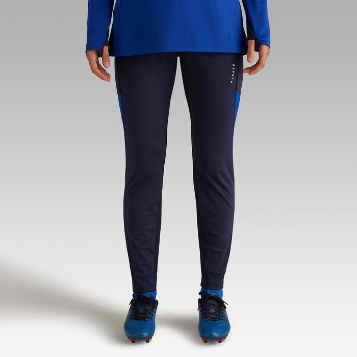 Pantalón de entrenamiento de fútbol para mujer T500 azul Kipsta ... 9fbbcb6f931eb