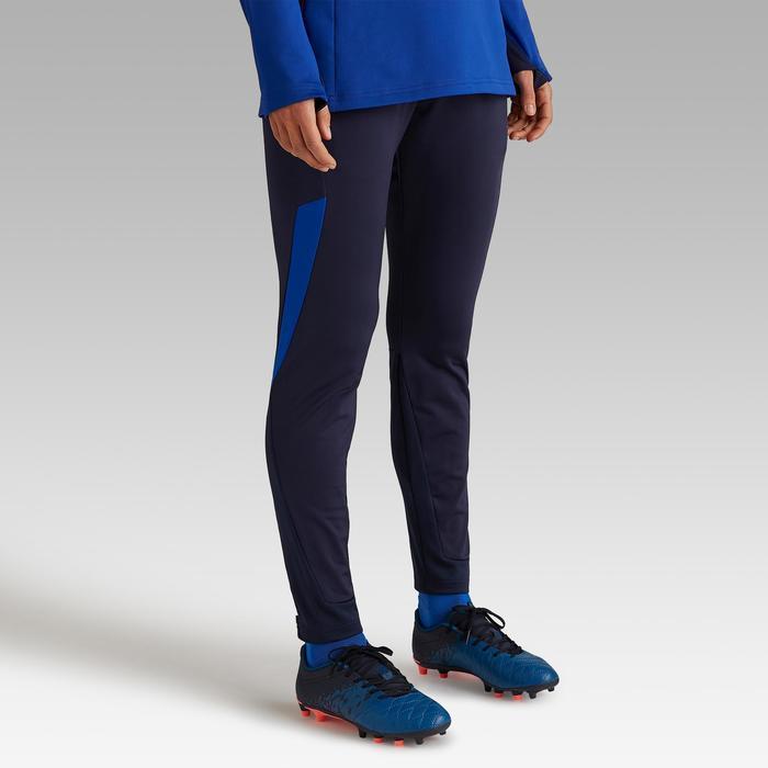 1be2b3af566c4 Pantalón de entrenamiento de fútbol para mujer T500 azul Kipsta ...
