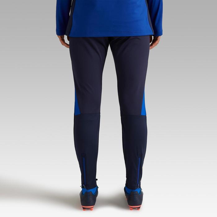 Pantalon d'entraînement de football femme T500 bleu