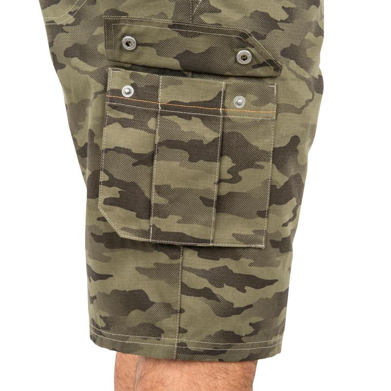 Men's Bermuda Shorts 500 Camo Halftone Green