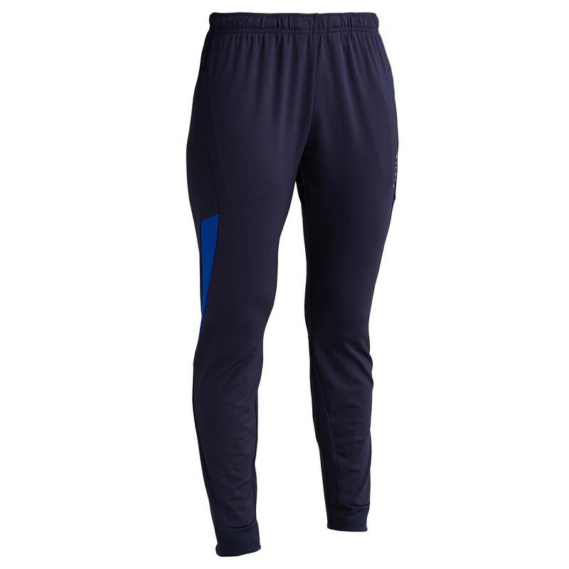Pantalon Antrenament Fotbal T500 Albastru Damă