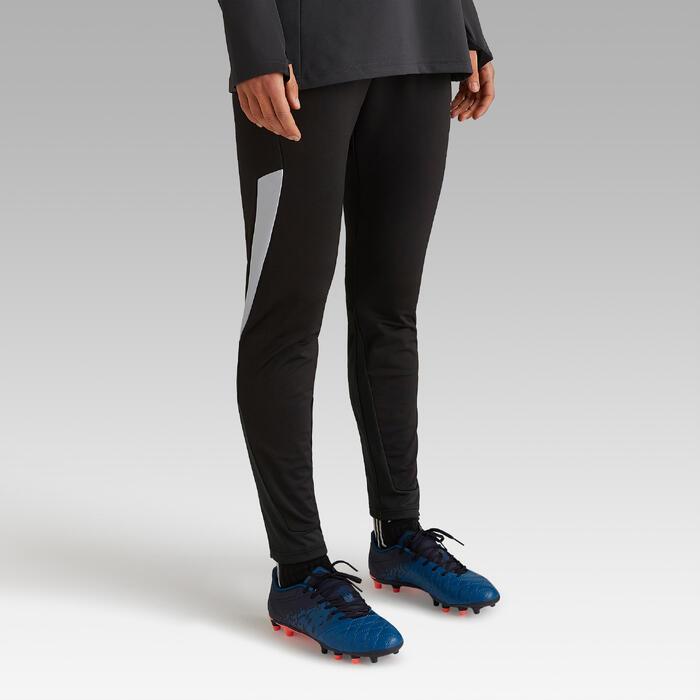 Pantalón de entrenamiento de fútbol mujer T500 negro