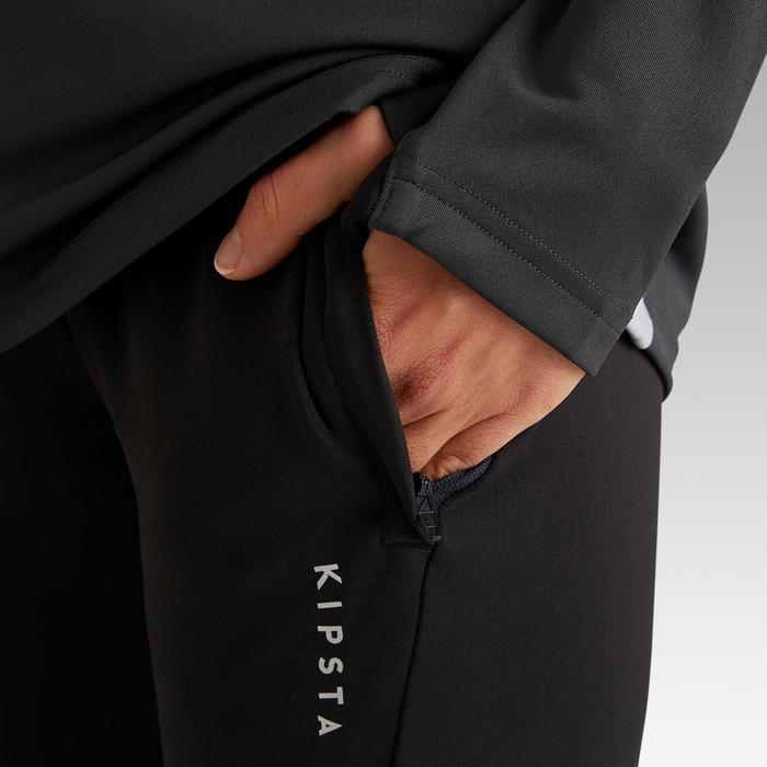 Pantalon d'entraînement de football femme T500 noir