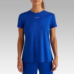 Fußballtrikot F100 Damen blau