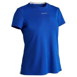 Camiseta Manga Corta Fútbol Kipsta F100 Mujer Azul