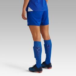 Fußballshorts F100 Damen blau