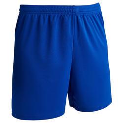 Pantalón Corto Fútbol Kipsta F100 Mujer Azul