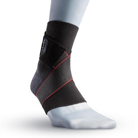Tobillera izquierda/derecha sujeción de ligamentos hombre/mujer STRONG 100 negro