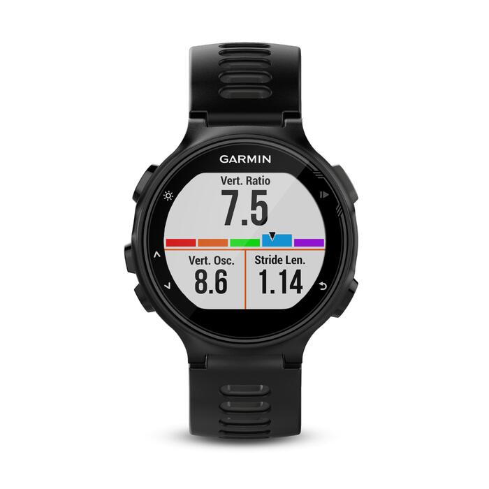 Reloj GPS multideporte con pulsómetro en la muñeca FORERUNNER 735 XT negro