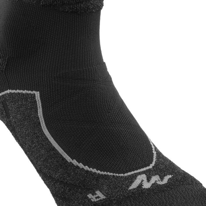 Calcetines largos de senderismo montaña. 2 pares MH 900 Gris Negro