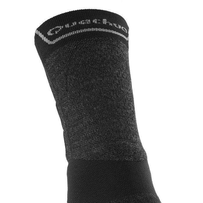 高筒登山健行襪。兩雙入MH 900-灰色/黑色
