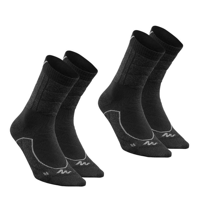 Túrazokni Túrázás - Túrazokni MH900, 2 pár QUECHUA - Cipő, bakancs, szandál