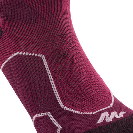 High Mountain Hiking Socks. MH 500 2 pairs - Purple/Plum