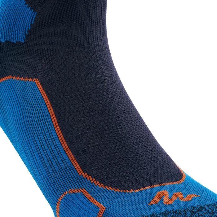 Chaussettes de randonnée montagne tiges mid. 2 paires Forclaz 500 bleu foncé