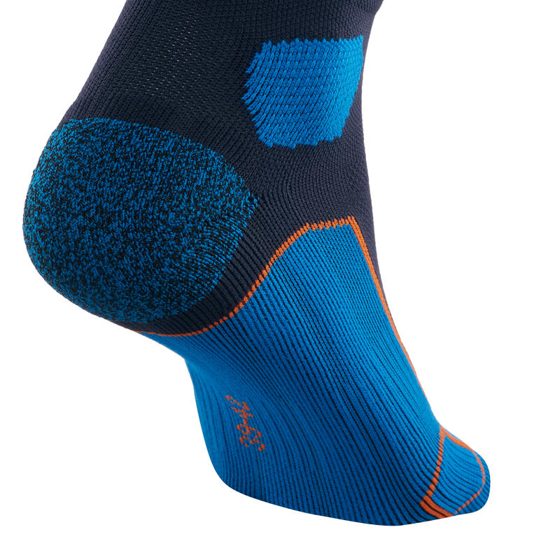 Mid-top mountain hiking socks. Forclaz 500 2 Pairs - Dark Blue