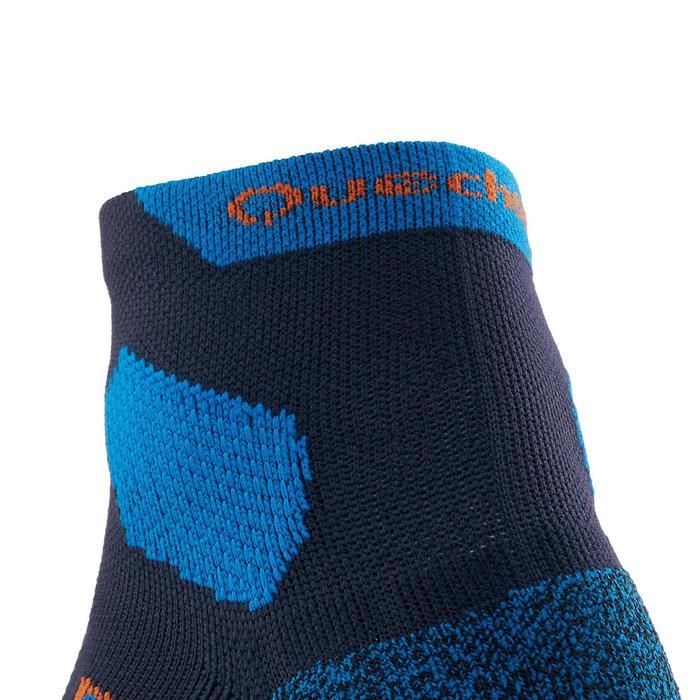 Calcetines de senderismo montaña media caña. 2 pares Forclaz 500 azul oscuro