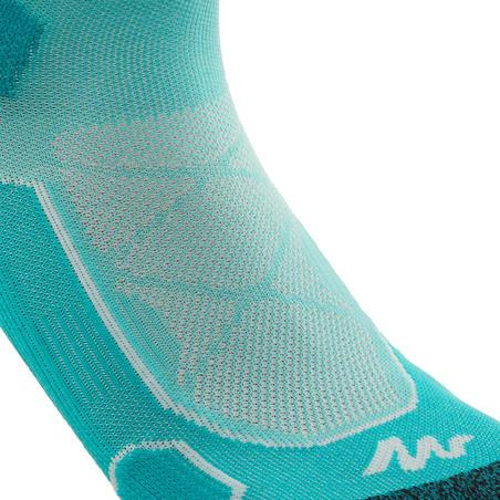 Mid-Length Mountain Hiking Socks. Forclaz 500 2 pairs - Green