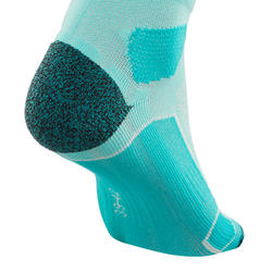 Mid-Top Mountain Hiking Socks. Forclaz 500 2 Pairs - Green