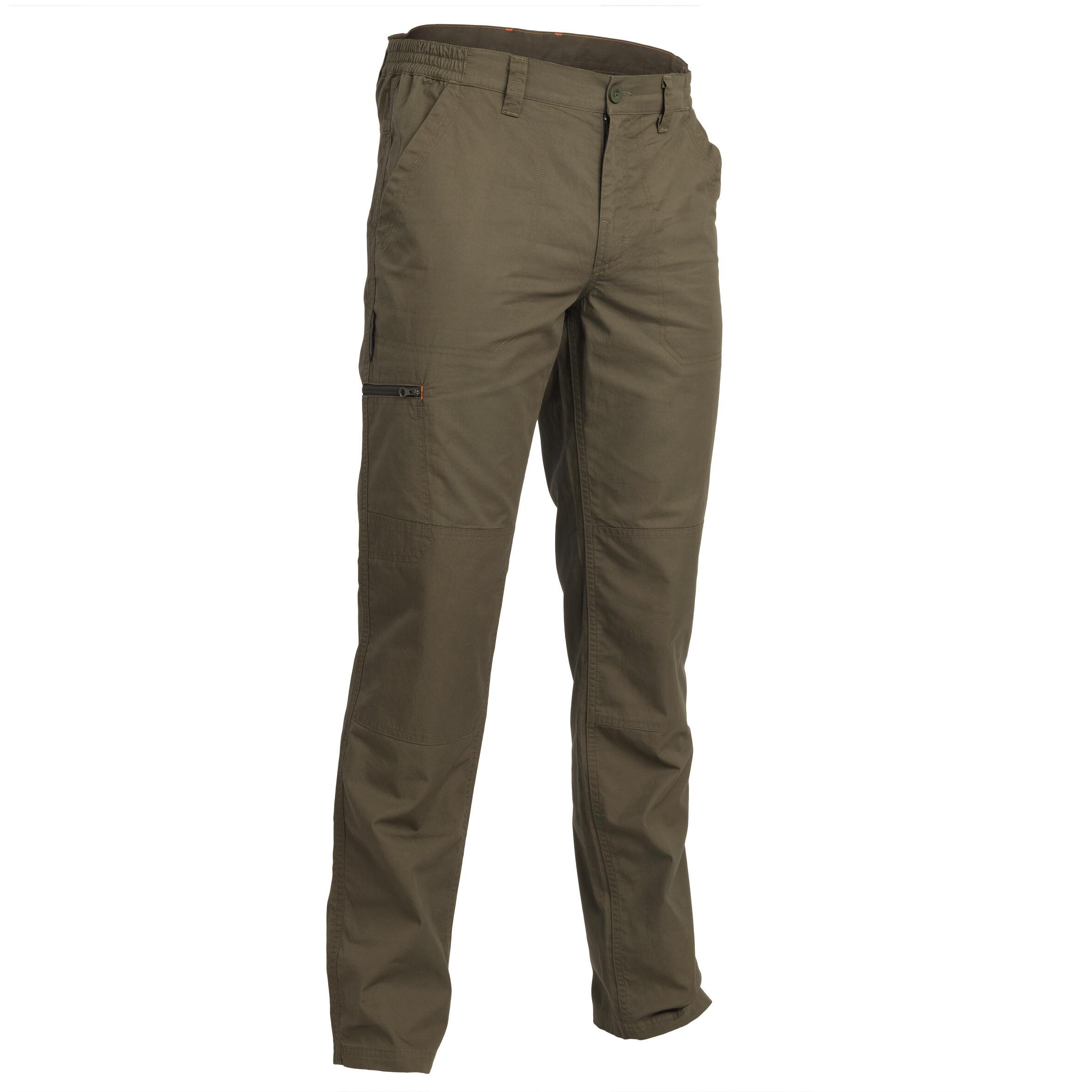 Jagdhose 100 leicht grün | Sportbekleidung > Sporthosen > Trekkinghosen | Solognac