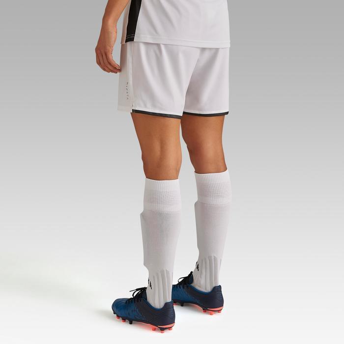 Fußballshorts F500 Damen weiß
