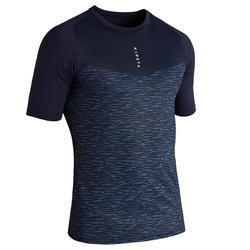 成人款足球短袖底層衣Keepdry 100-灰色