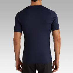 Camiseta térmica de fútbol manga corta adulto Keepdry 100 gris