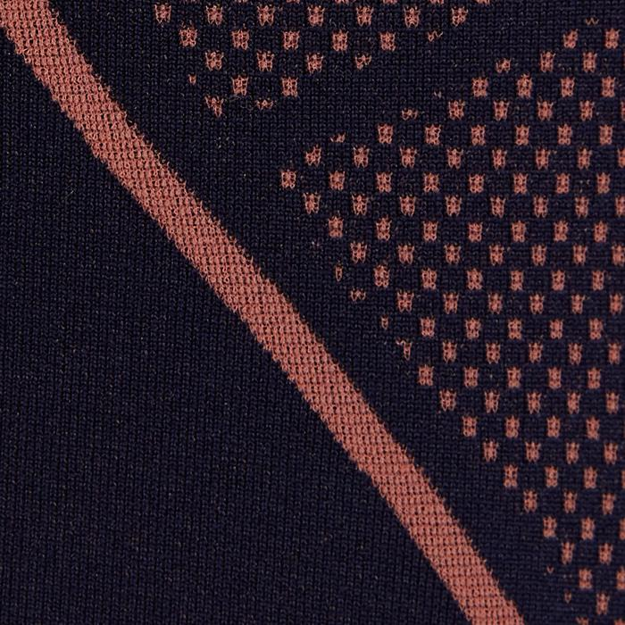 Camiseta Térmica Transpirable Manga Corta Kipsta KDRY500 Hombre Naranja Negro